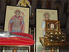 мощи Георгия Победоносца и священномученика Лаврентия архидиакона
