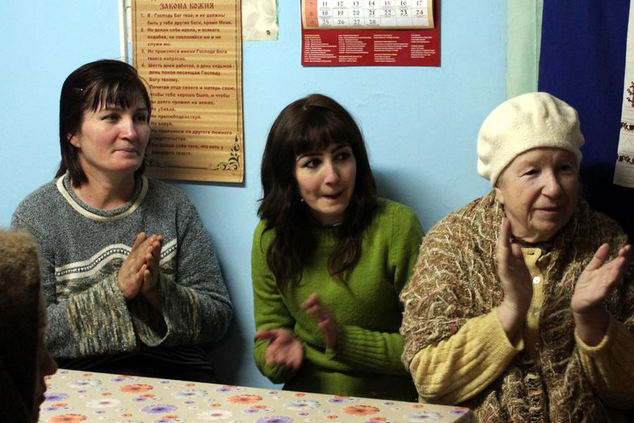 Рождественский обед в Пущинской благотворительной столовой