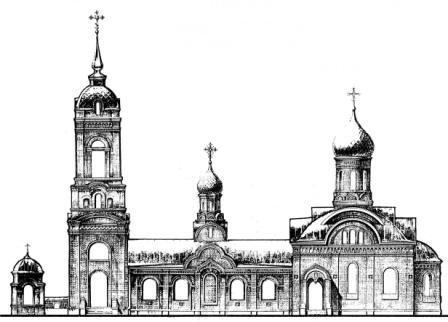 эскиз Пущинского храма
