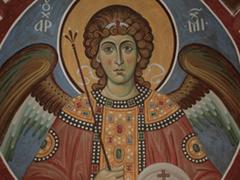 Архангел Михаил под куполом Пущинского храма