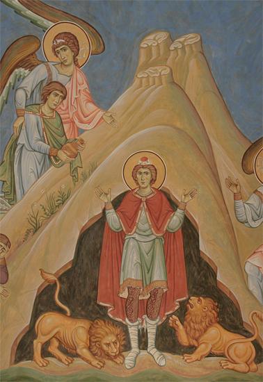 Пророк Даниил во рву со львами Пущинский храм