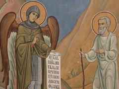 Ангел заповедует пустыннику Пахомию монашеский устав