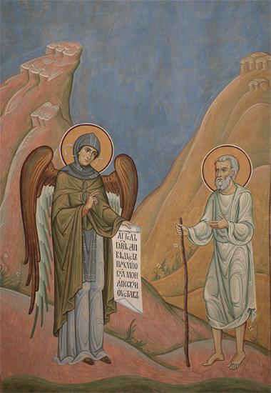 Ангел дает Пахомию монашеский устав Пущинский храм