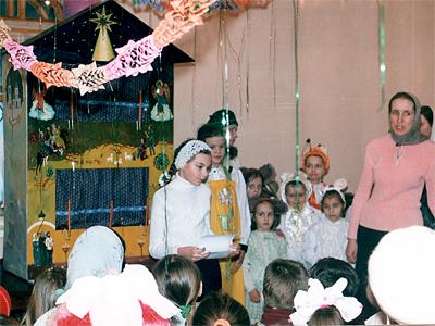 Первое вертепное представление в пущинской воскресной школе 2001