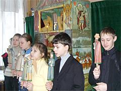 2010 Вертепные представления в Пущинских школах