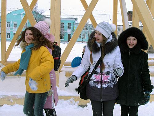 На горке в Коломенском кремле