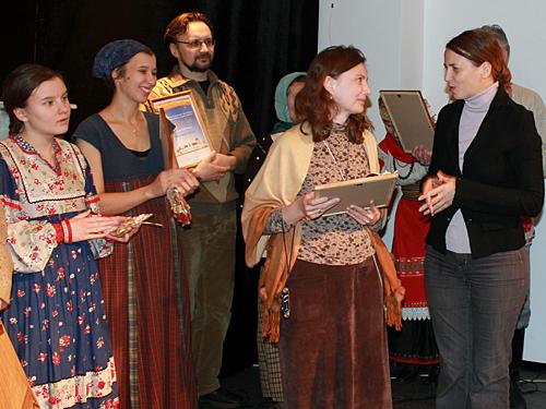 Вручение диплома фестиваля