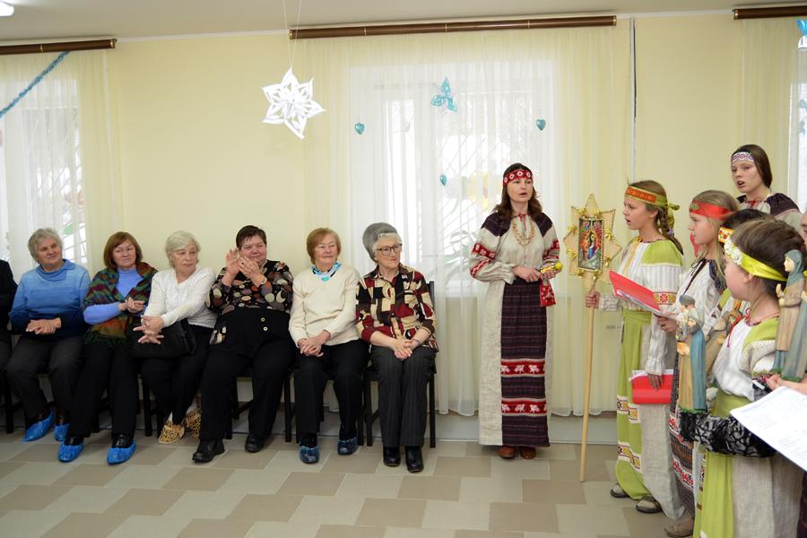 Вертепное представление в социально-реабилитационном центре г. Пущино