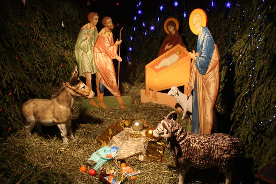 Вертеп в храме Рождества Иоанна Предтечи на Пресне
