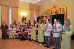 Вертепное представление в Марфо-Мариинской обители