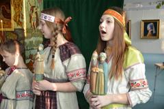 Вертепное представление для пущинских школьников в Музее экологии
