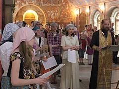 Молебен по окончании 2011 учебного года