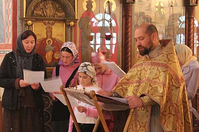 Молебен на начало учебного года в Вертограде