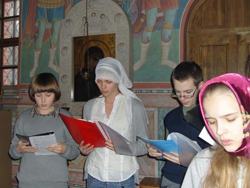 Молебен новогодний 2012 в воскресной школе Вертоград