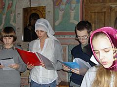 Новогодний молебен в воскресной школе Вертоград