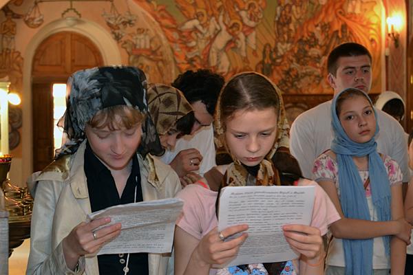 """Молебен по окончании учения в воскресной школе """"Вертограде"""""""