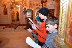 Молебен на Новолетие в воскресной школе