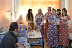 20.04.2014 Пасхальный обход пациентов Пущинской больницы