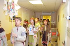 07.01.2015 Рождественский обход, колядки в Пущинской больнице