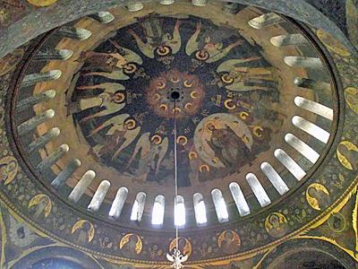 Роспись под куполом Трапезной Церкви Киево-Печерской лавры