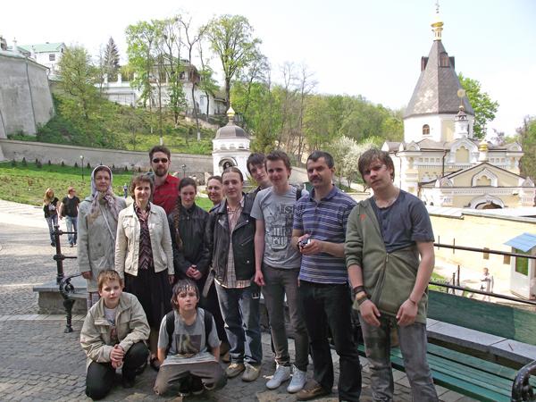 Паломники из г. Пущино в Киево-Печерской лавре