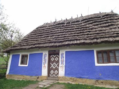 Украинская хата в музее Пирогово