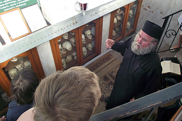 В часовне-костнице Муромского Спасо-Преображенского монастыря