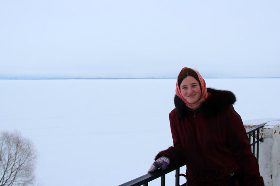 В Спасо-Яковлевском Димитриевом монастыре Ростова Великого. Вид на озеро Неро